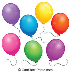 Balloons theme image 1 - eps10 vector illustration.