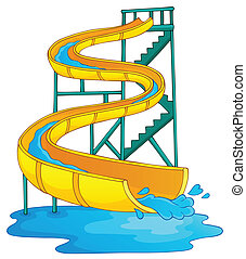 Image with aquapark theme 2 - eps10 vector illustration