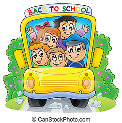 Image with school bus theme 2
