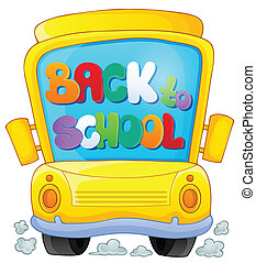 Image with school bus theme 3 - eps10 vector illustration