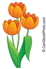 Image with tulip flower theme 1 - eps10 vector illustration.