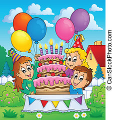 Kids party theme image 5 - eps10 vector illustration.