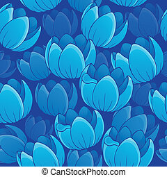 Seamless background flowery topic 2 - eps10 vector...