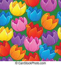 Seamless background flowery topic 3 - eps10 vector...