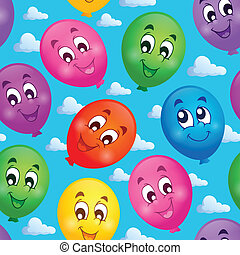 Seamless background with balloons 3