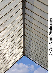 plastic roofing and blue sky - Sunshade plastic roofing and...