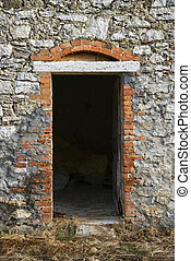 Stone building, Tuscany, Italy.
