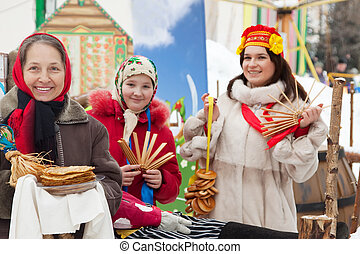 women celebrating Pancake Week - happy women celebrating...