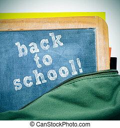 back to school - sentence back to school written in a...