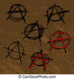 anarchy - set of anarchy symbols