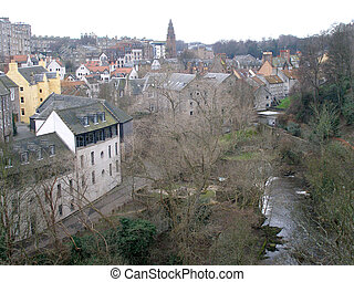 Dean Village and the Waters of Leith, Edinburgh. Taken from...