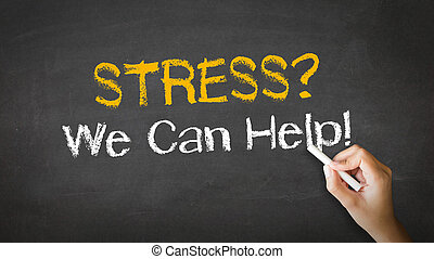 Stress we can help Chalk Illustration - A person drawing and...