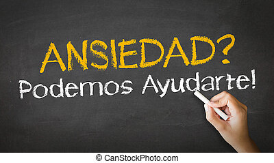 Anxiety we can help In Spanish - A person drawing and...