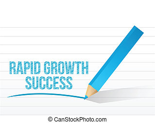 rapid growth success message illustration design over white