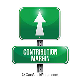 contribution margin road sign illustrations design over...