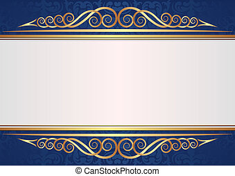 white background - white and blue background with golden...