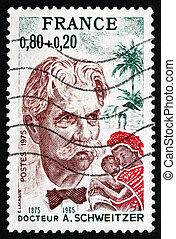 Postage stamp France 1975 Dr. Albert Schweitzer - FRANCE -...