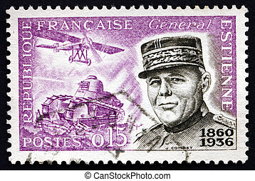 Postage stamp France 1960 General Jean Baptiste Eugene...