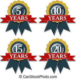 anniversary seal 5 10 15 20 years - seal and ribbon...