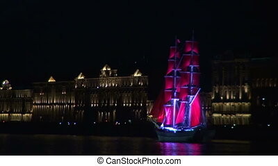 The sailing ship with the crimson sails