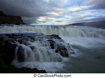 Gulfoss Iceland - Gulfoss Gullfoss Iceland taken with a slow...