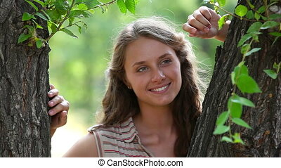 Summer beauty - Close-up portrait of a beautiful young lady...