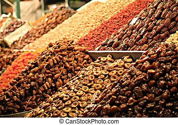 Food stall in Marrakech Souk - A food stall in a Marrakech...