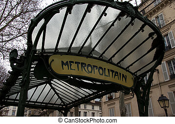 "Metropolitain-top - Art Deco metro sign. Thank you the ""Art..."