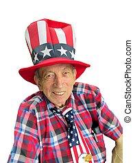 patriotic senior