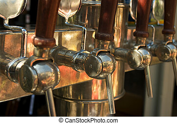 Tap - A tap beer dispenser seen at a bistro