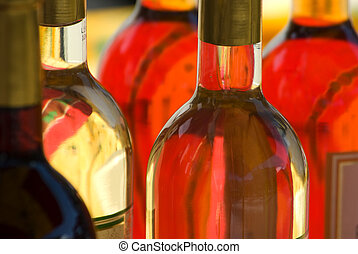 White-Wine-Bottles - White wine tasting and display in an...
