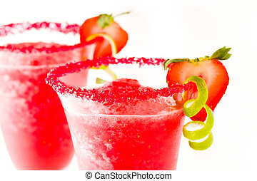 Strawberry Daiquiri - Strawberry daiquiri cocktail with...
