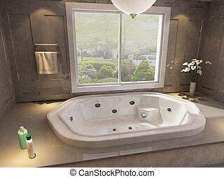 Bathroom interior - 3d rendering of a Bathroom interior.