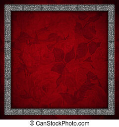 Red Velvet Background - Roses Flowers - Red velvet texture...