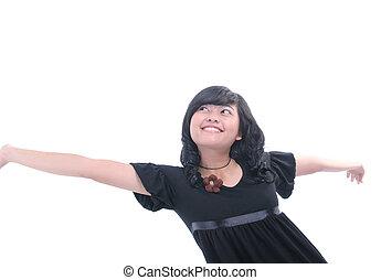young woman enjoy life