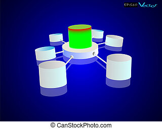Data warehouse and Data integration - Vector illustration of...