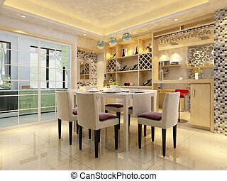 home interior 3d rendering - 3d rendering of home interior