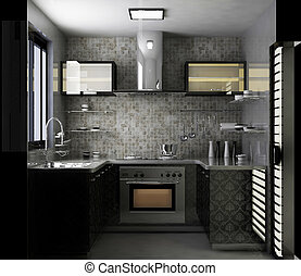 kitchen room - rendering kitchen room