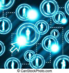 social network communication in the computer networks