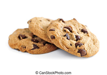 Chocolate chip cookies - Tall stack of chocolate chip...