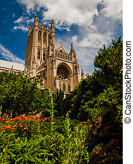The Washington National Cathedral from the Bishop s Garden,...