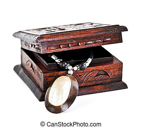Wooden jewelry box - Beautiful handcrafted wooden box with...