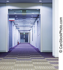 Office Space - Hallway in an office building.