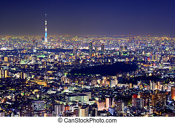 Tokyo Cityscape - Tokyo cityscape with the Tokyo Skytree