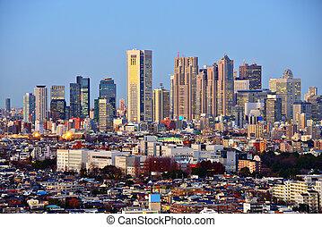 Tokyo at Shinjuku - Tokyo, Japan looking towards the...