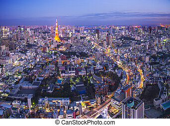 Tokyo Cityscape - Tokyo cityscape with Tokyo Tower.