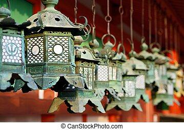 Japanese Buddhist Temple Lanterns - Buddhist temple lanterns...
