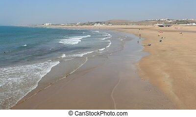Beach in Asilah, Morocco - Beach in Asilah, Morocco, North...