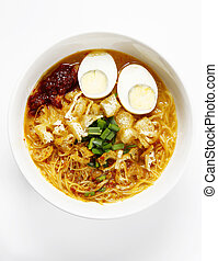 mee siam - breakfast bowl of malay mee siam