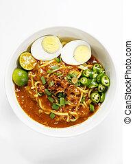 mee rebus -  breakfast bowl of malay mee rebus